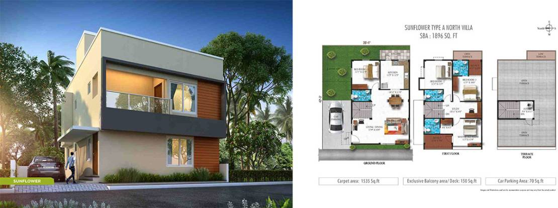 Humming Gardens Villas near Kelambakkam Floor Plan